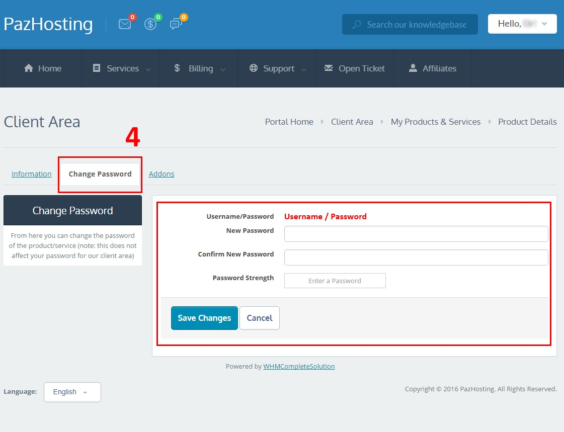 how to change webmail password